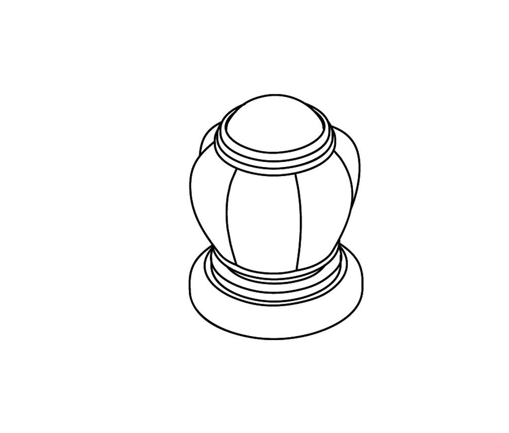 S161-126H Rim mounted valve 1/2″ H