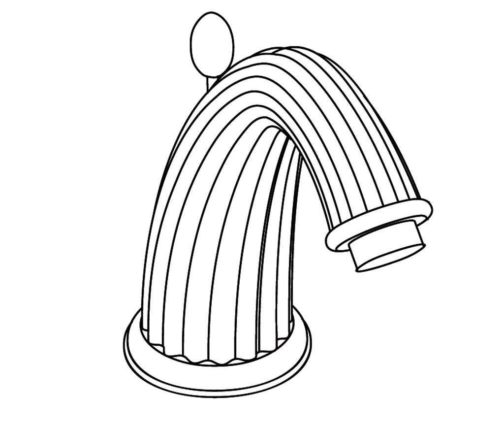 S161-1S1 Rim mounted basin spout