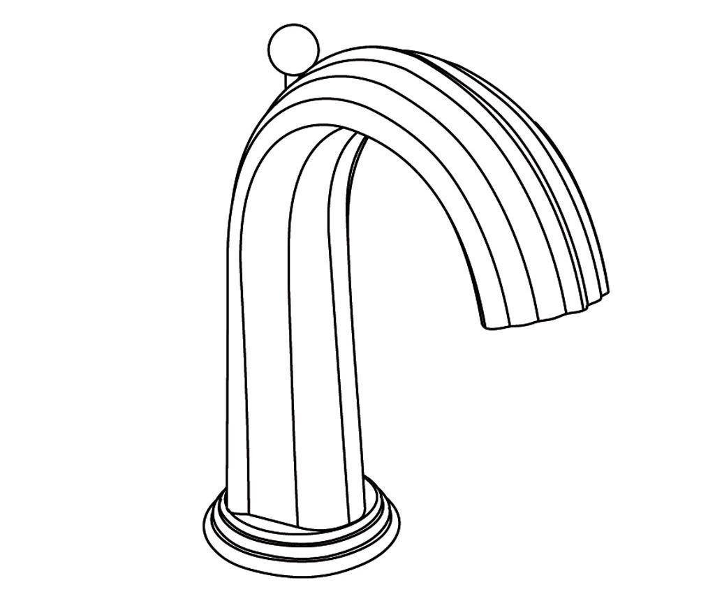 S177-1S1 Rim mounted basin spout