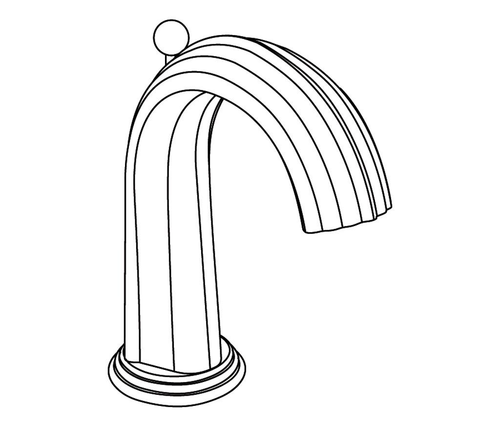 S181-1S1 Rim mounted basin spout