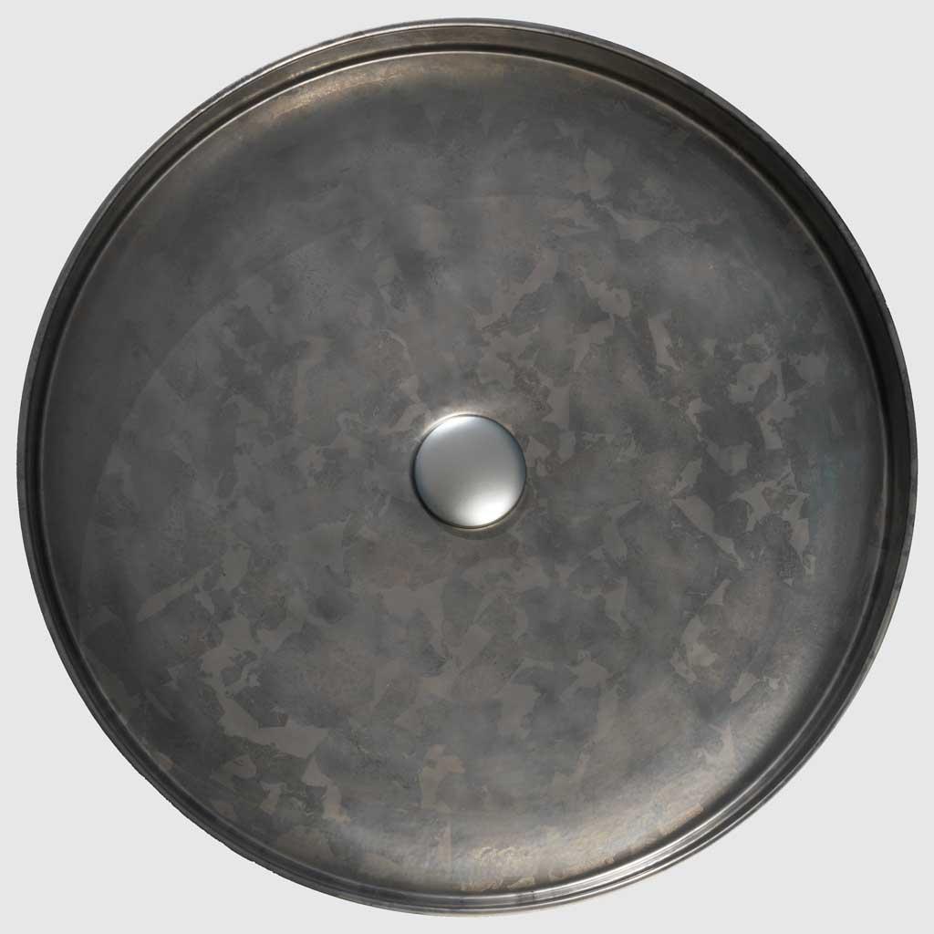 PB01-8JDC2 Large Taïga counter top washbasin, Ø50cm, porcelain enamel