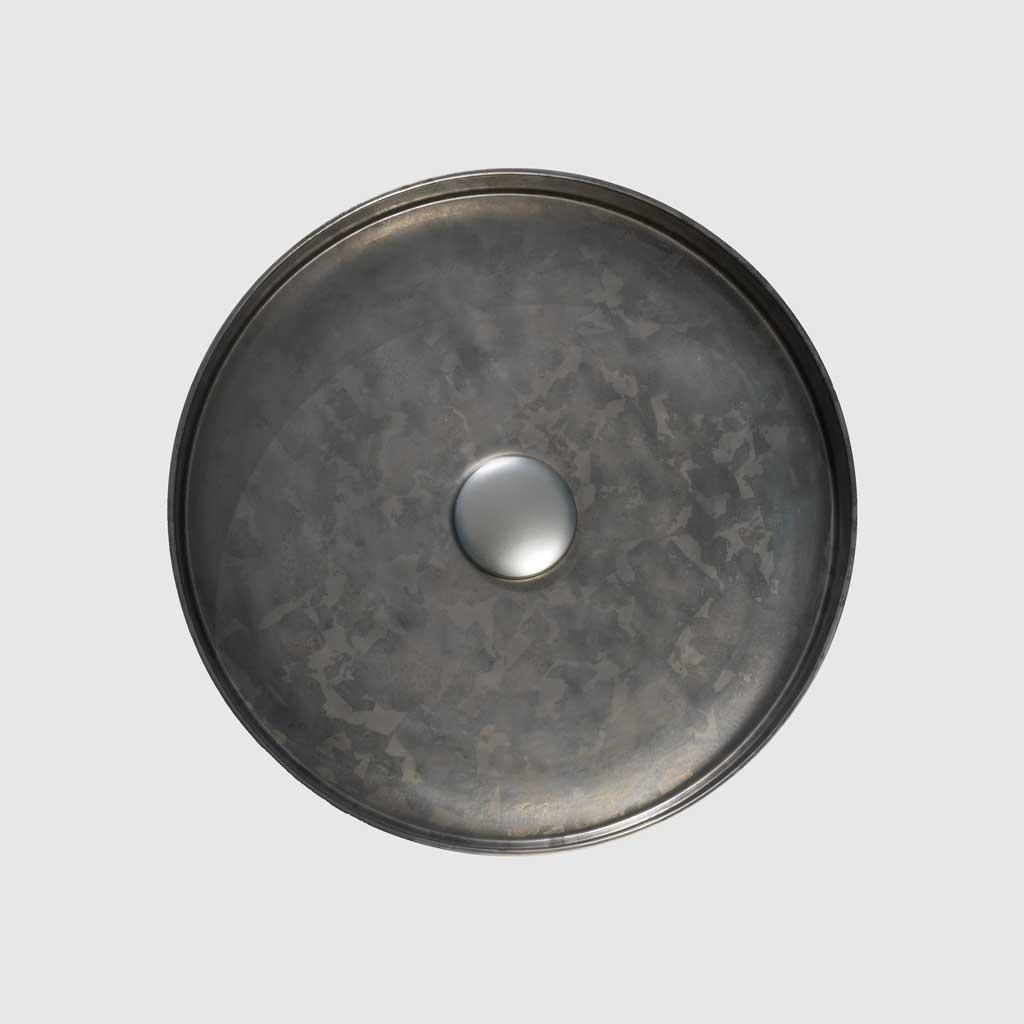PB01-8JDC1 Small Taïga counter top washbasin, Ø35,5cm, porcelain enamel