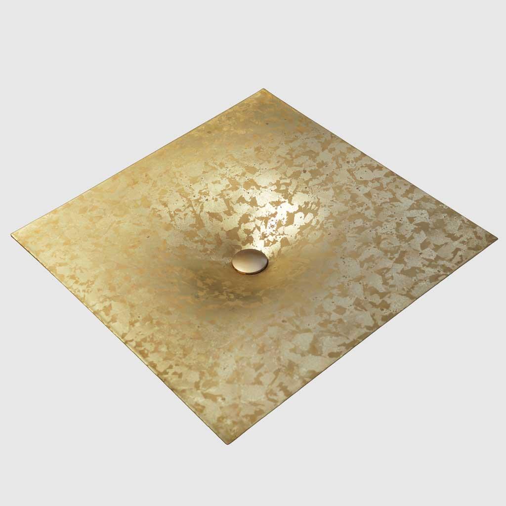 PB01-8JDC5 Wake up inset washbasin, 60x60cm, porcelain enamel