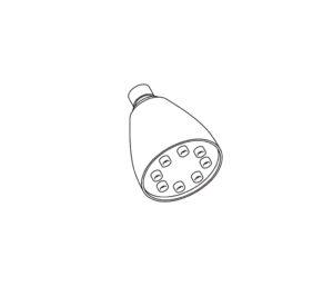 2417 Pomme de douche mur. Speakman